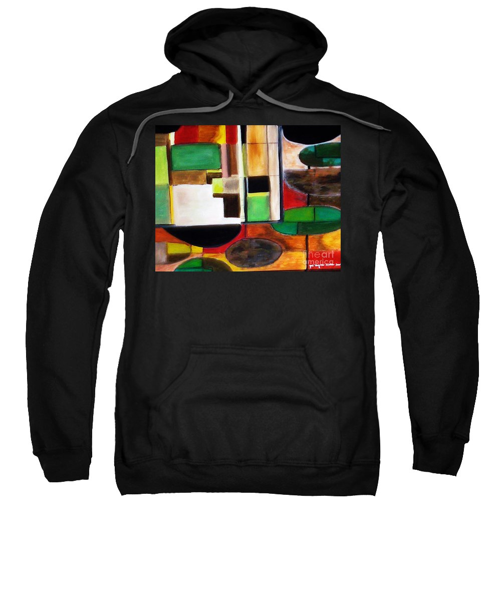 Acrylic Painting Sweatshirt featuring the painting Wholeness by Yael VanGruber