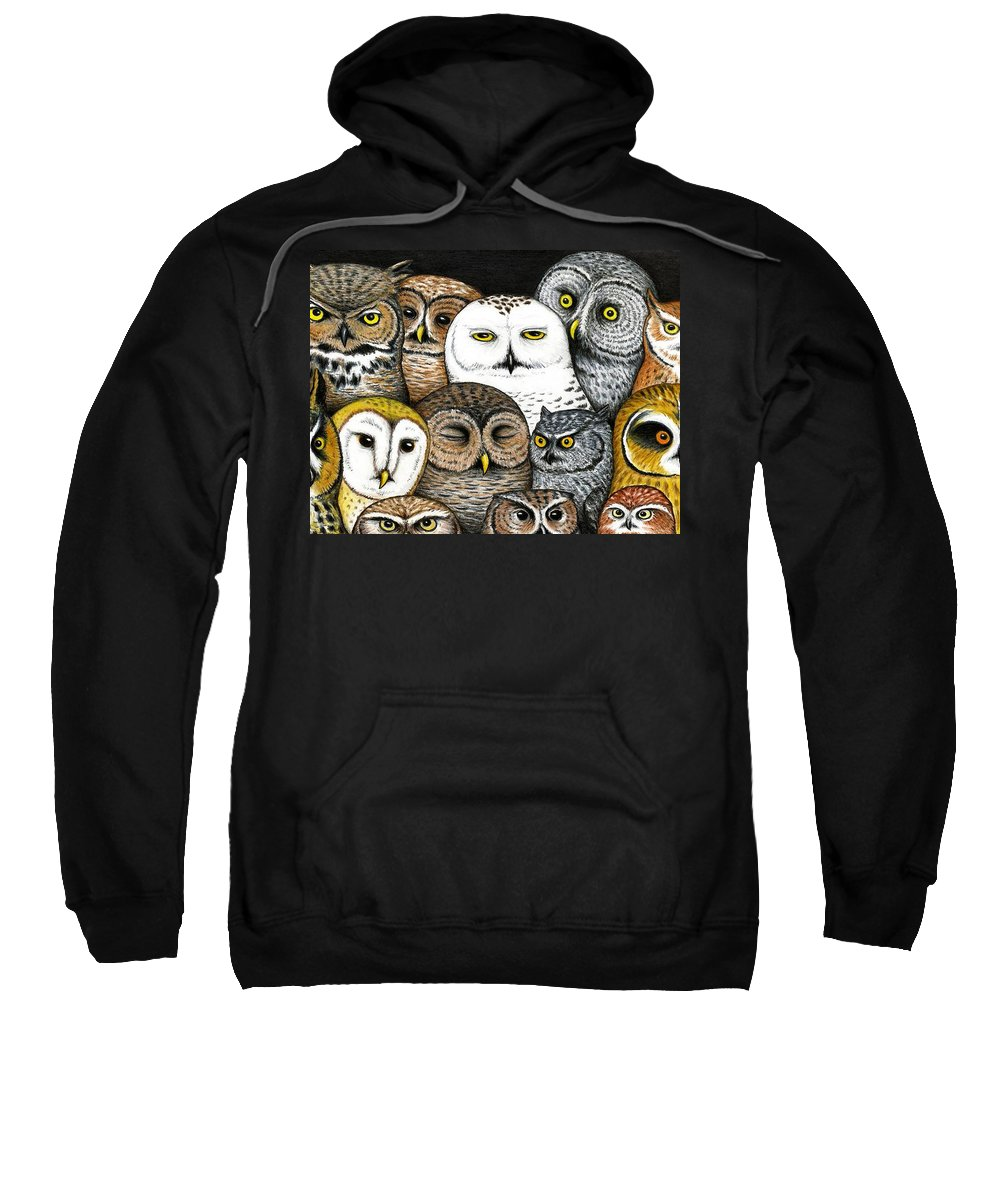 Art Sweatshirt featuring the painting Who's Hoo by Don McMahon