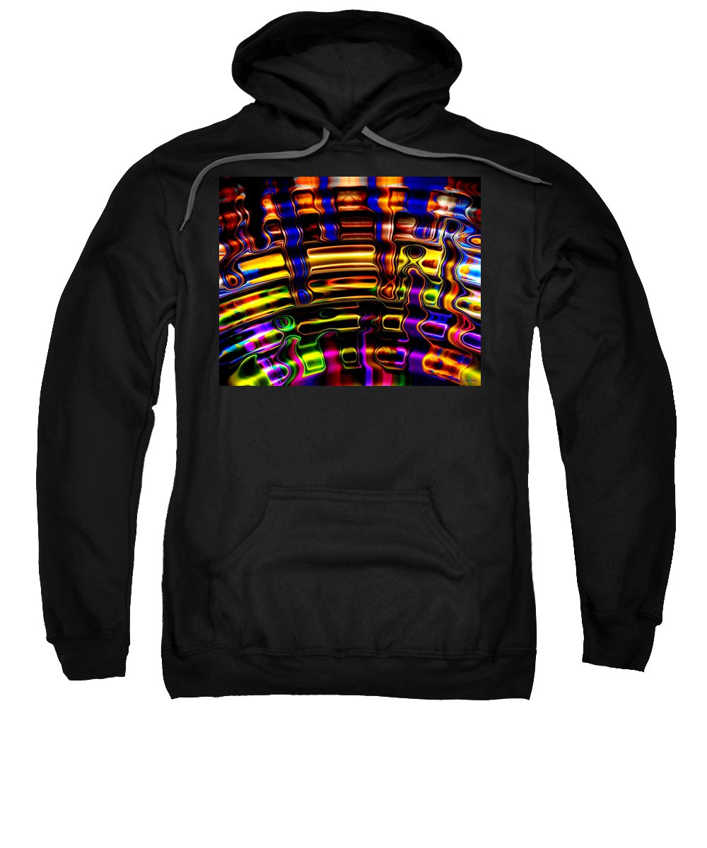 Colorful Sweatshirt featuring the digital art Wide Awake by Robert Orinski
