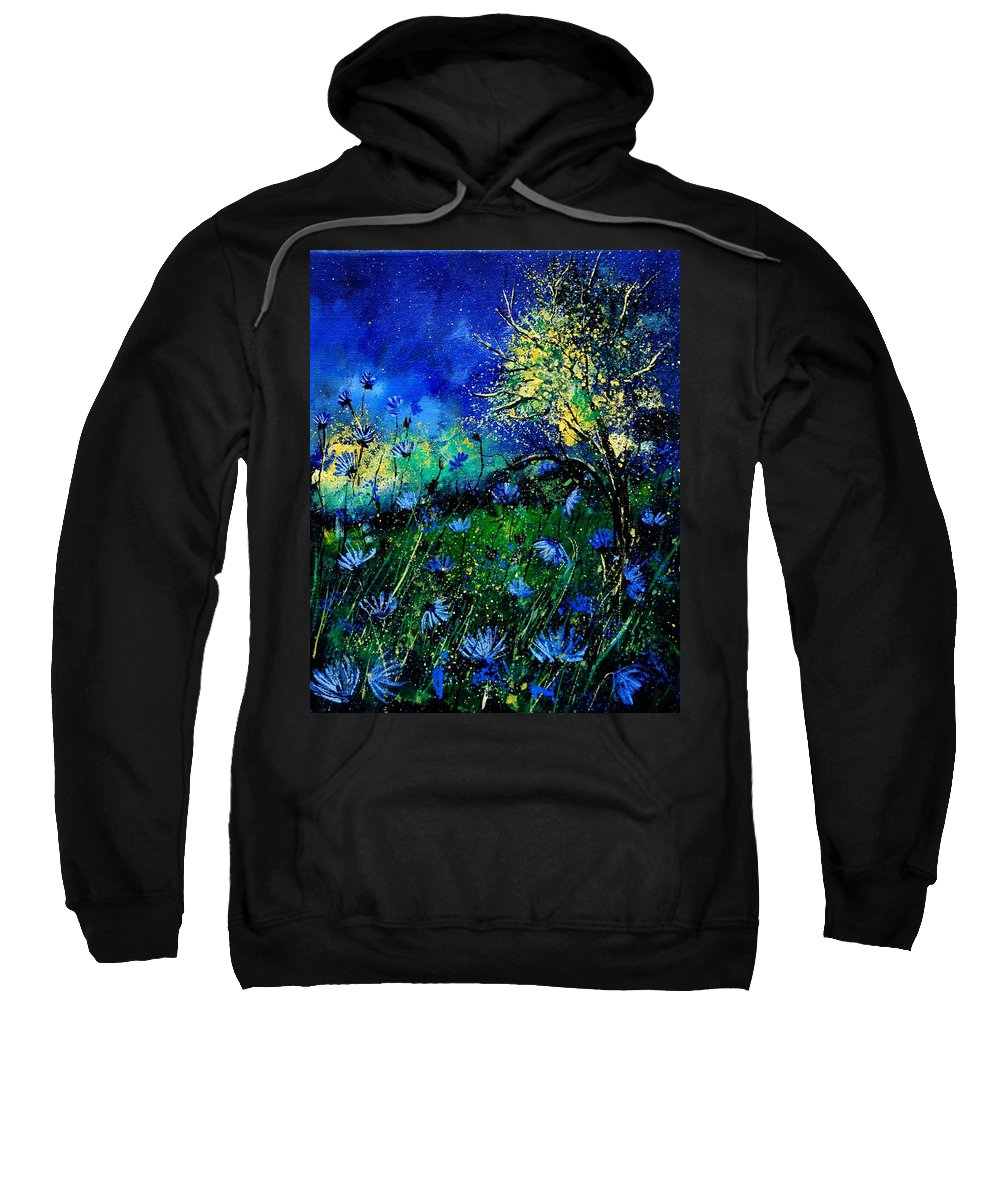 Poppies Sweatshirt featuring the painting Wild Chocoree by Pol Ledent