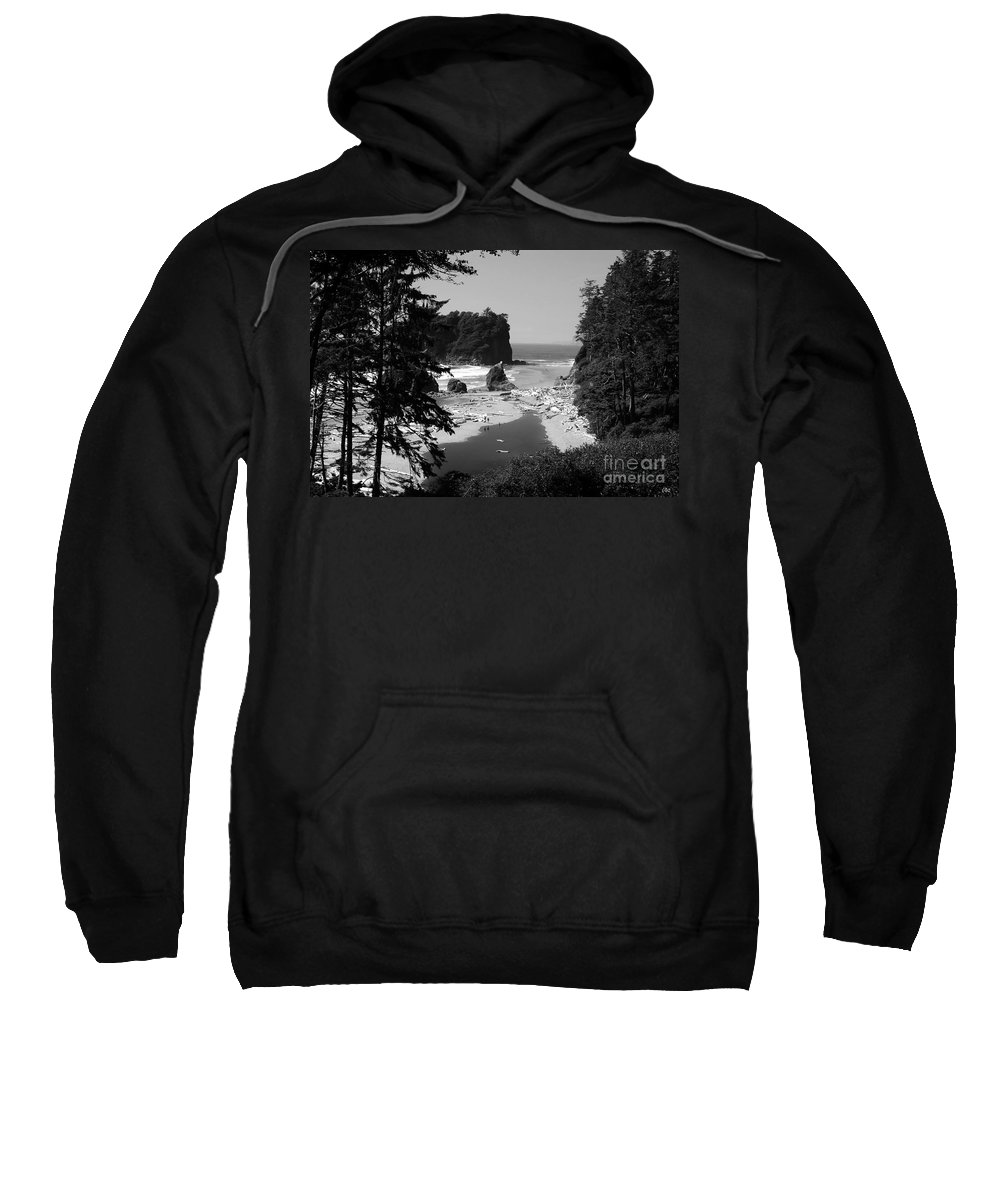 Cove Sweatshirt featuring the photograph Wild Cove by David Lee Thompson
