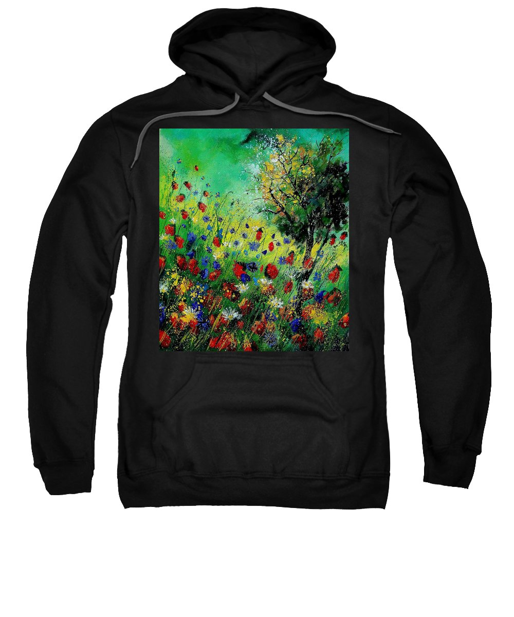 Flowers Sweatshirt featuring the painting Wild Flowers 670130 by Pol Ledent