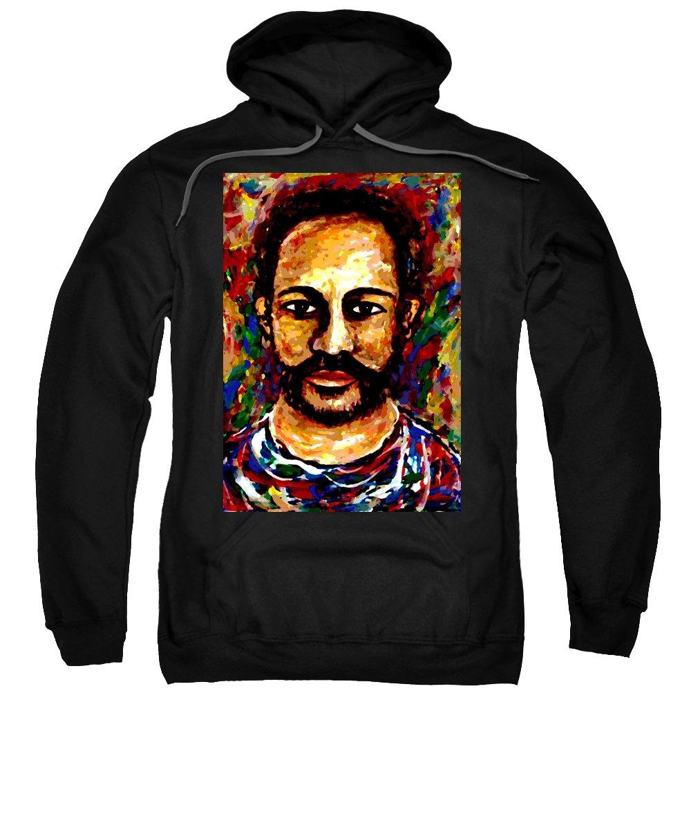 Expressionism Sweatshirt featuring the digital art Wild Spirit by Natalie Holland