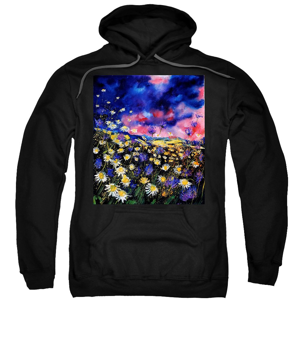Flowers Sweatshirt featuring the painting Wildflowers 67 by Pol Ledent