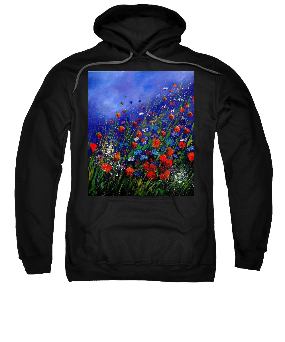 Poppies Sweatshirt featuring the painting Wildflowers 78 by Pol Ledent