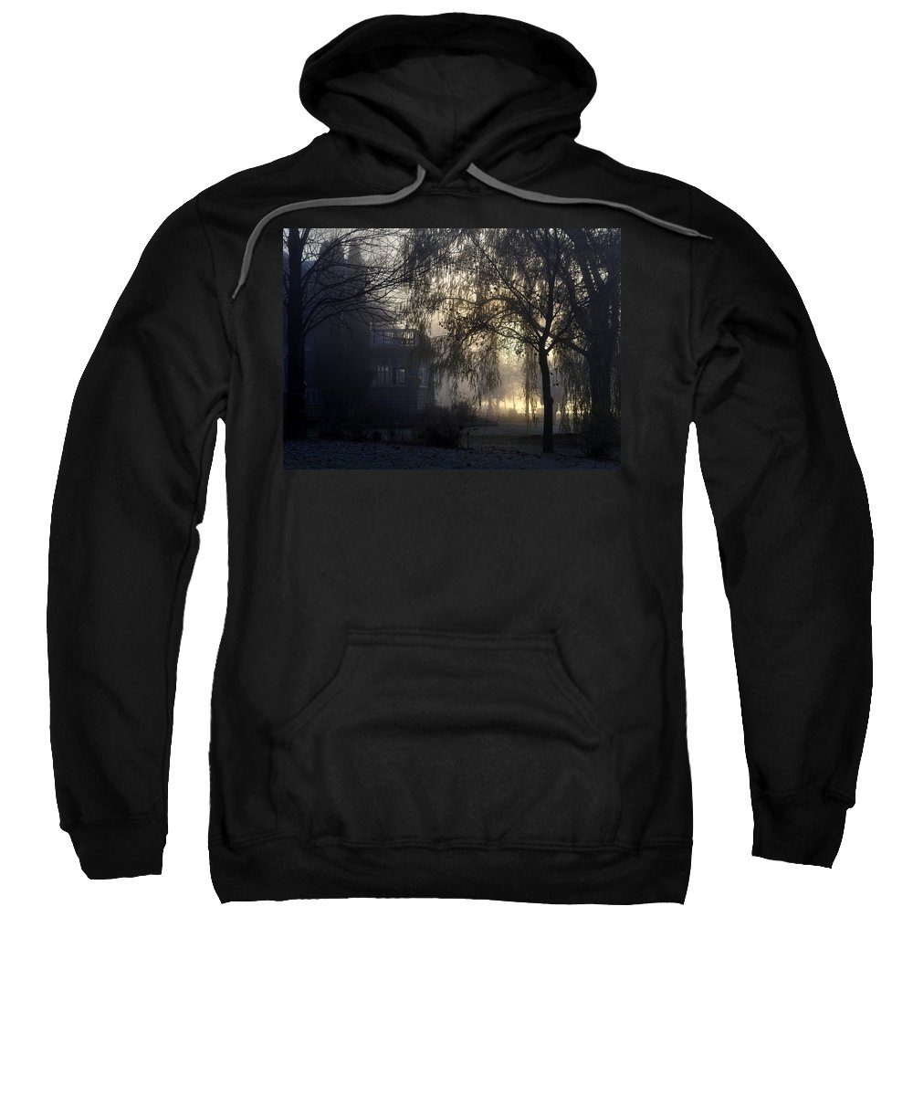 Fog Sweatshirt featuring the photograph Willow In Fog by Tim Nyberg