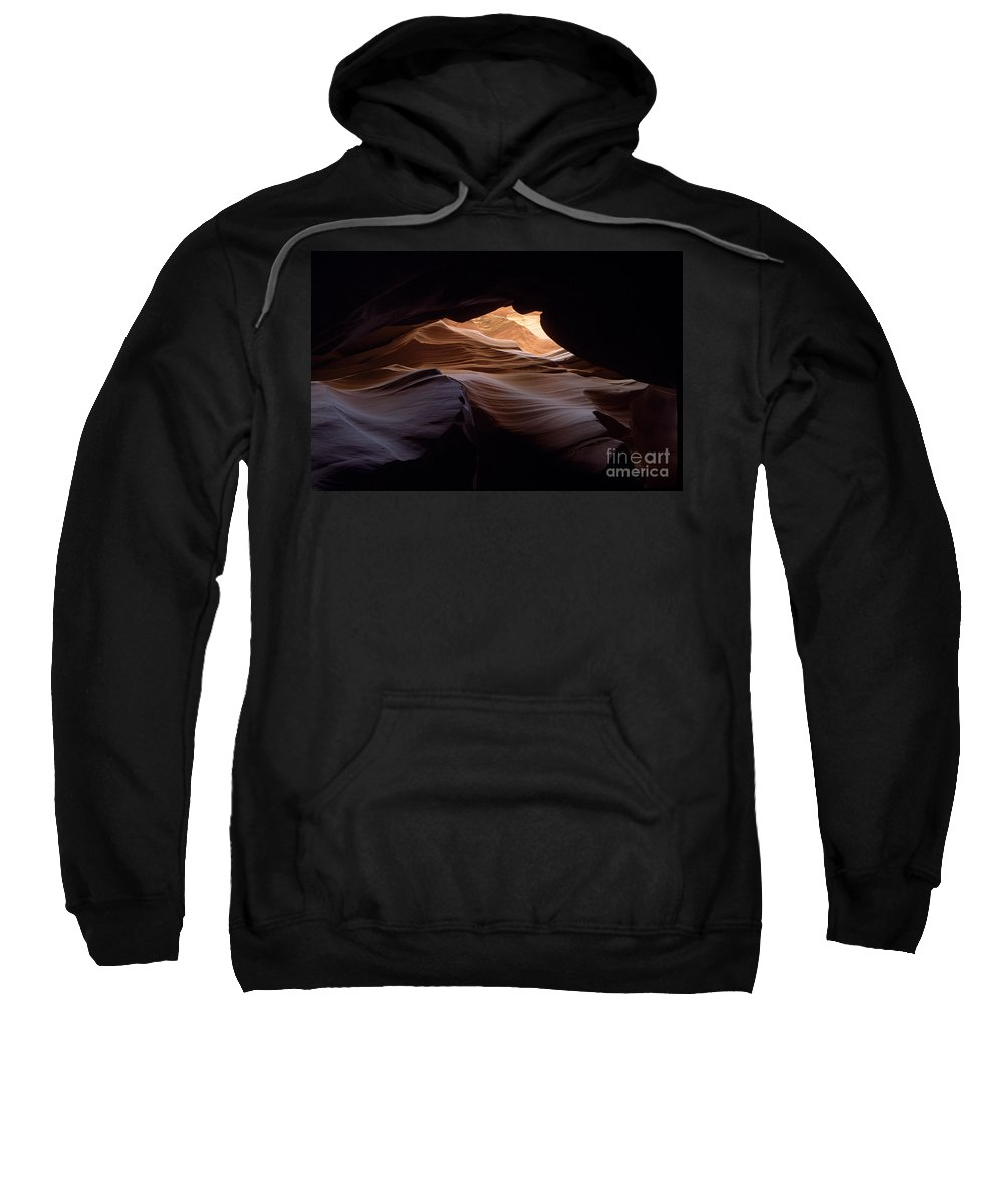 Antelope Canyon Sweatshirt featuring the photograph Wind And Water by Kathy McClure