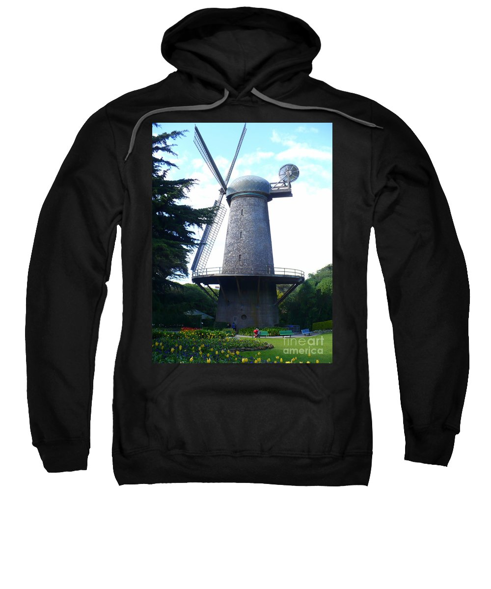Windmill Sweatshirt featuring the photograph Windmill In Golden Gate Park by Carol Groenen