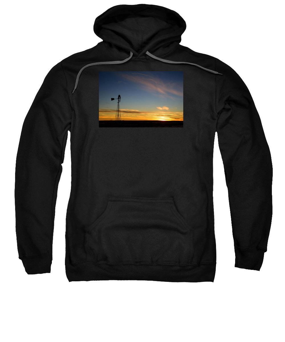 Sunset Sweatshirt featuring the photograph Windmill Sunset by Paul Moore