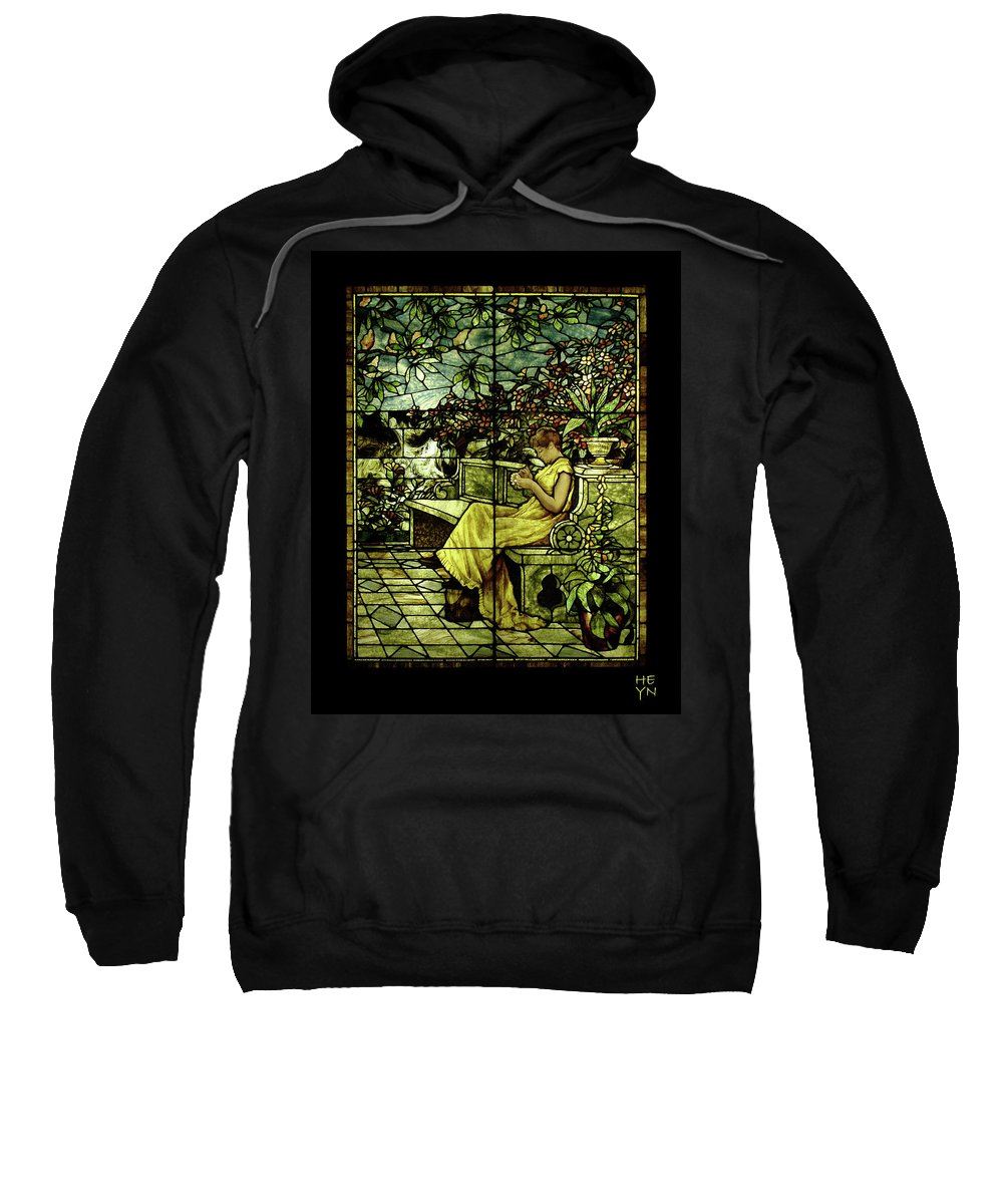 Stain Sweatshirt featuring the photograph Window - Lady In Garden by Shirley Heyn