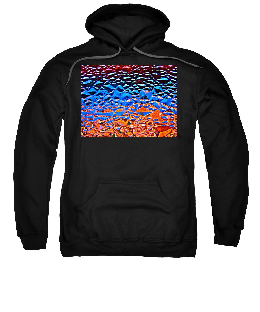 Photograph Of Window Sweatshirt featuring the photograph Window Batik by Gwyn Newcombe