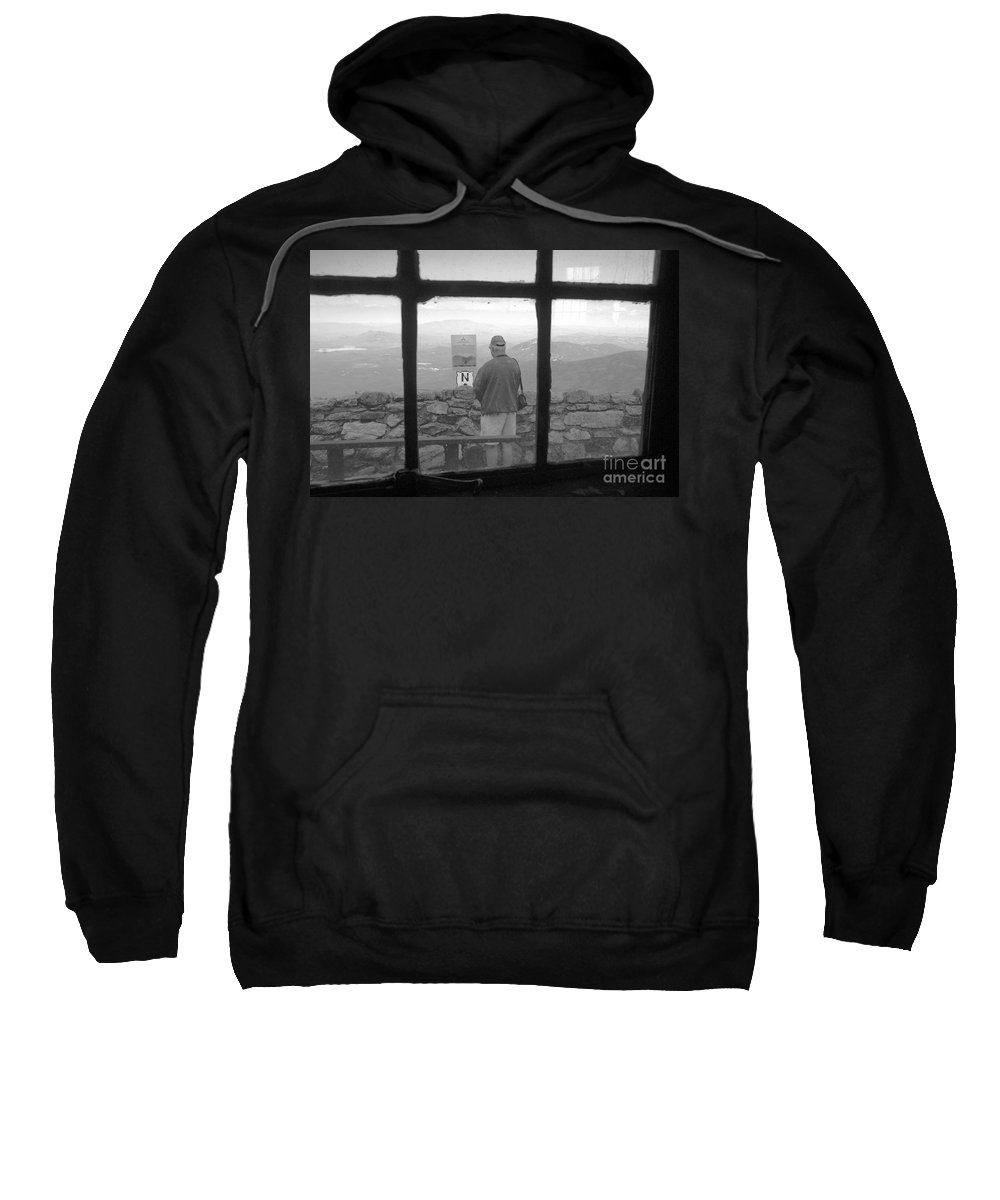 Windows Sweatshirt featuring the photograph Window On White Mountain by David Lee Thompson