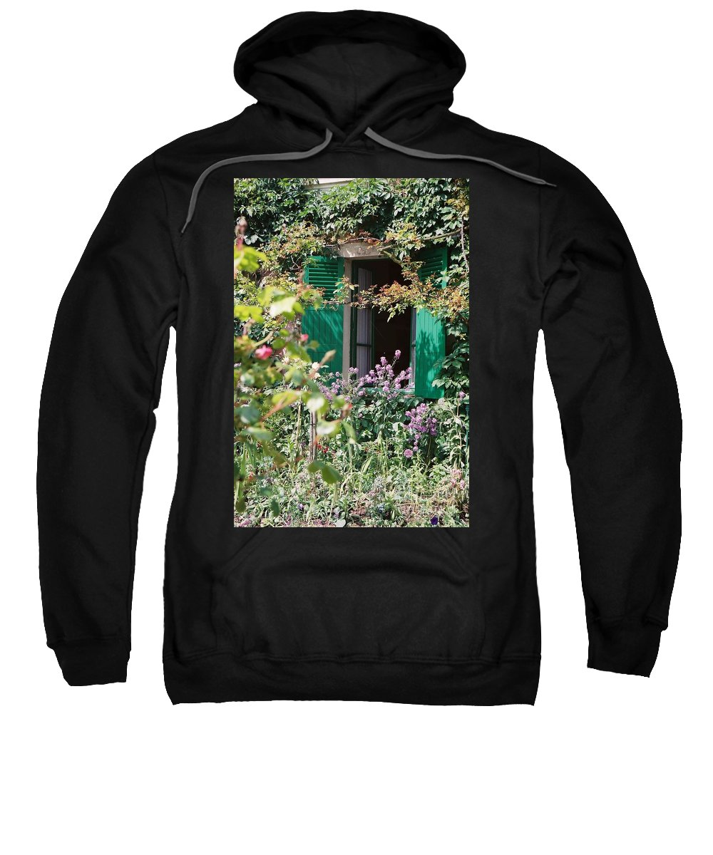 Charming Sweatshirt featuring the photograph Window To Monet by Nadine Rippelmeyer