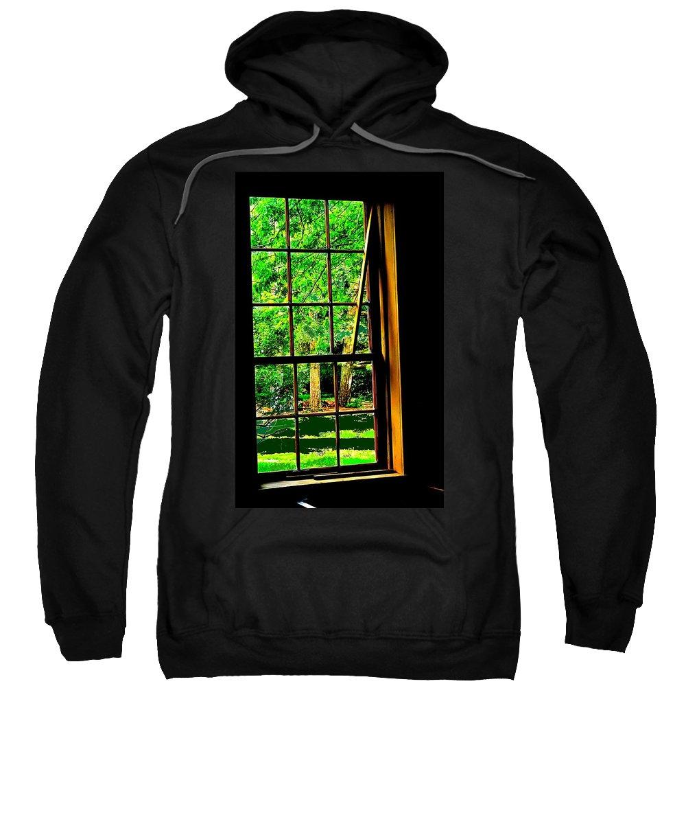 Window Sweatshirt featuring the photograph Window To My World by Ian MacDonald