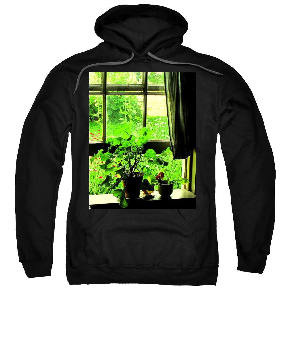 Pioneer Sweatshirt featuring the photograph Window To The World by Ian MacDonald