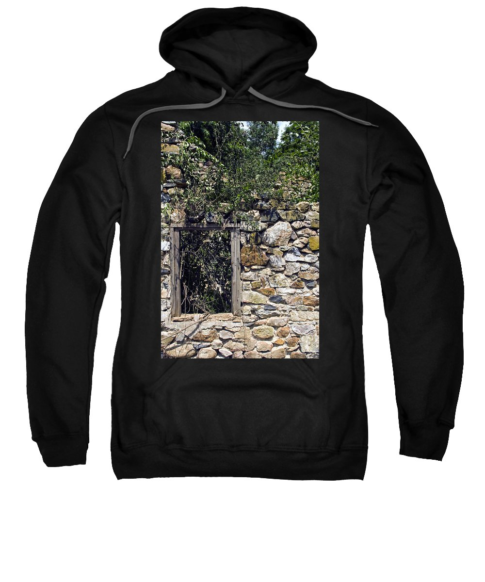 Ruin Sweatshirt featuring the photograph Windowless by Scott Wyatt