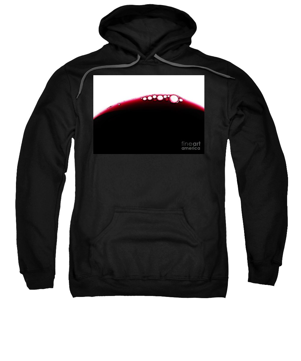Abstract Sweatshirt featuring the photograph Wine Bubles by Carlos Caetano