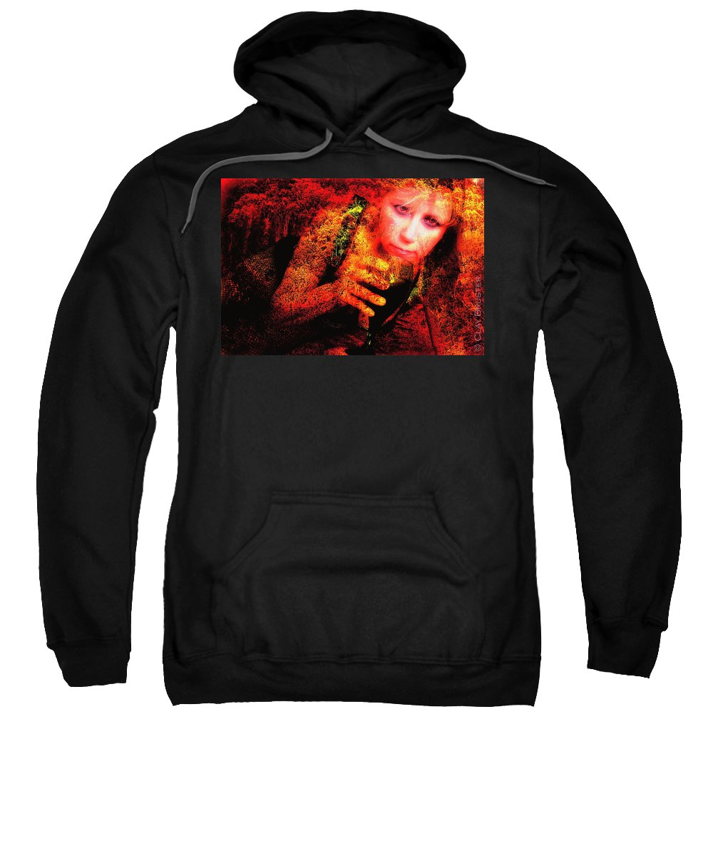 Clay Sweatshirt featuring the photograph Wine Woman And Fall Colors by Clayton Bruster
