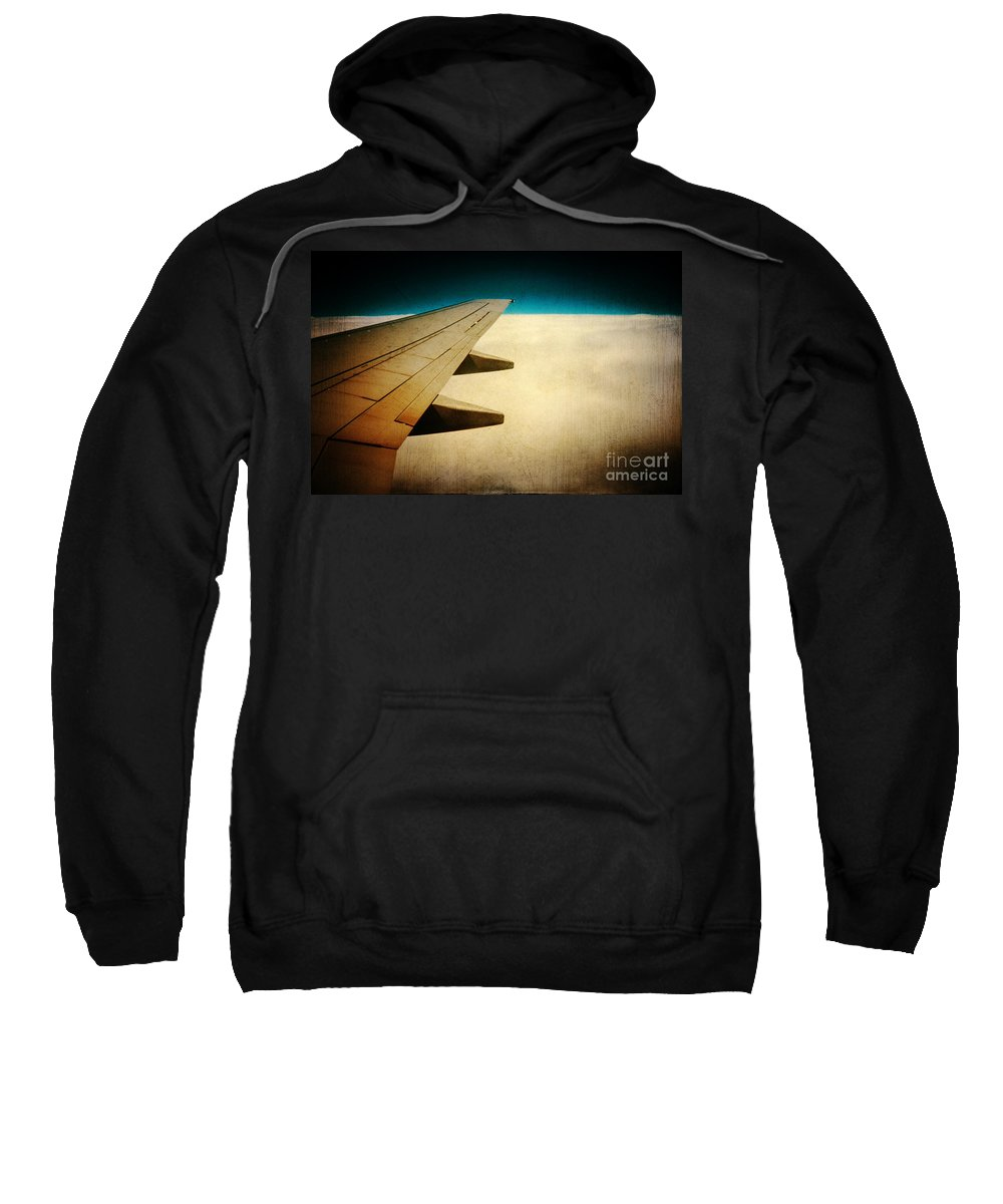 Airplane Sweatshirt featuring the photograph Wing by Silvia Ganora