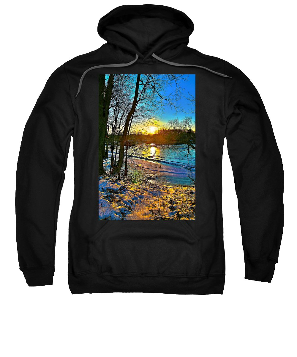 Snow Sweatshirt featuring the photograph Winter Color by Robert Pearson