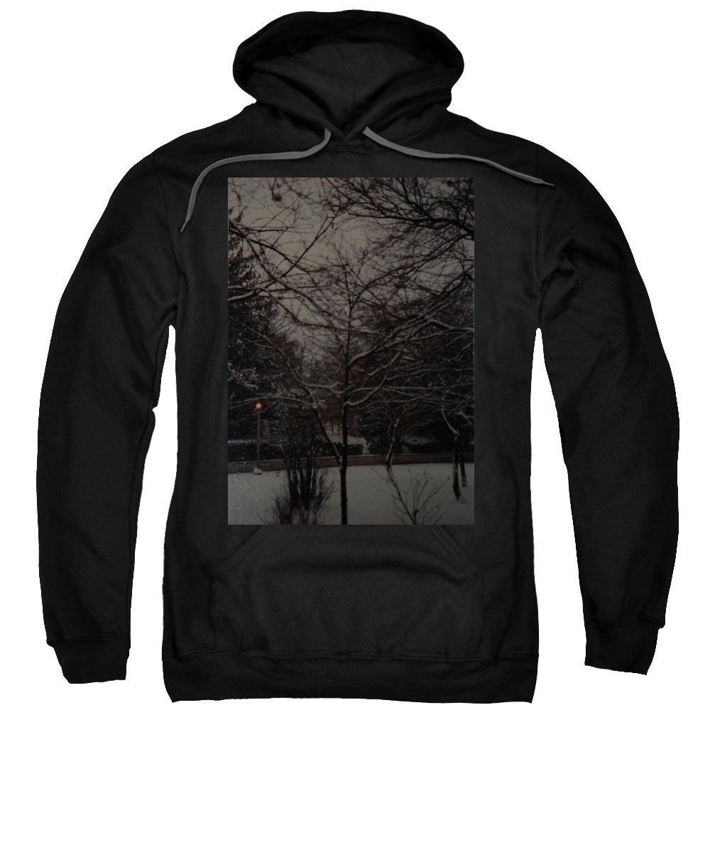Lights Sweatshirt featuring the photograph Winter Dusk by Rob Hans