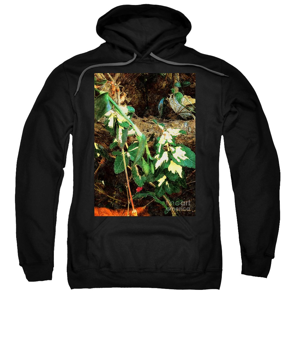 Autumn Sweatshirt featuring the painting Winter Hideout by RC DeWinter