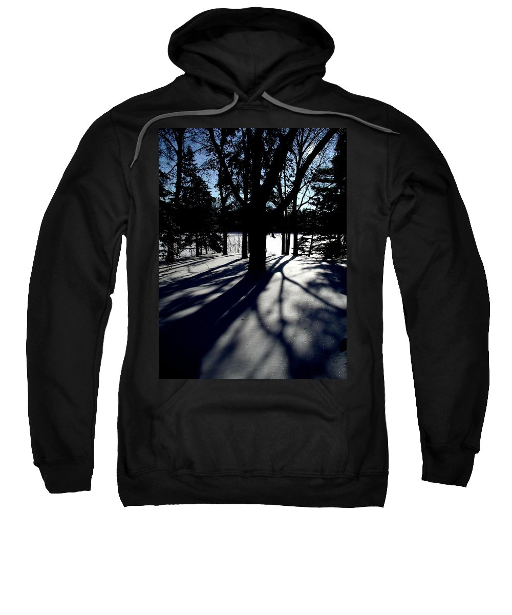 Landscape Sweatshirt featuring the photograph Winter Shadows 2 by Tom Reynen