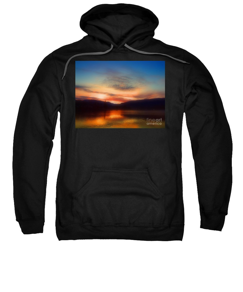 Okanagan Sweatshirt featuring the photograph Winter Sunset by Tara Turner