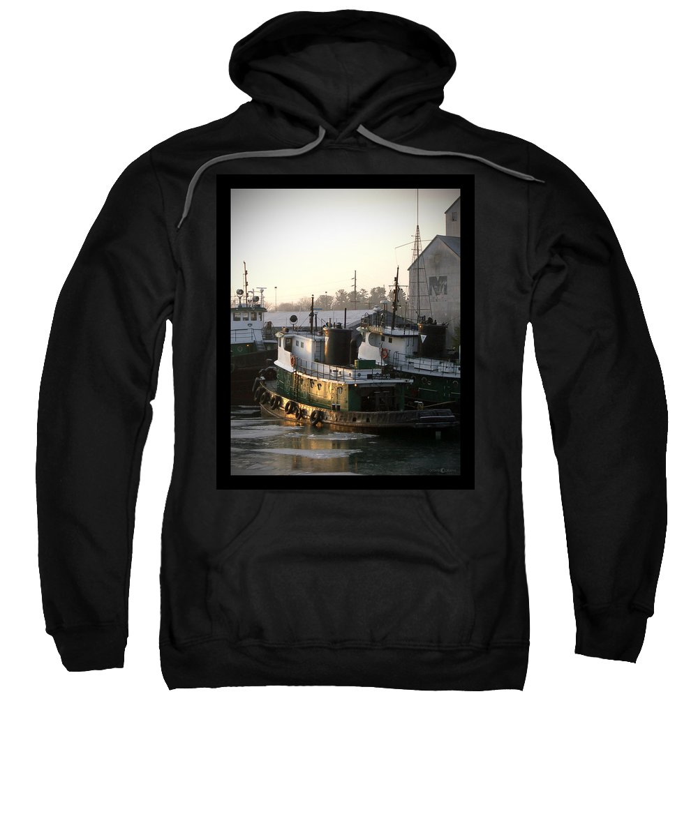 Tugs Sweatshirt featuring the photograph Winter Tugs by Tim Nyberg