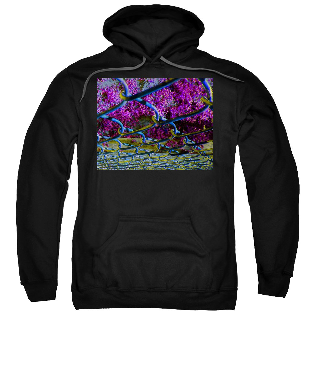 Abstract Sweatshirt featuring the photograph Wire Fence Trombones by Lenore Senior