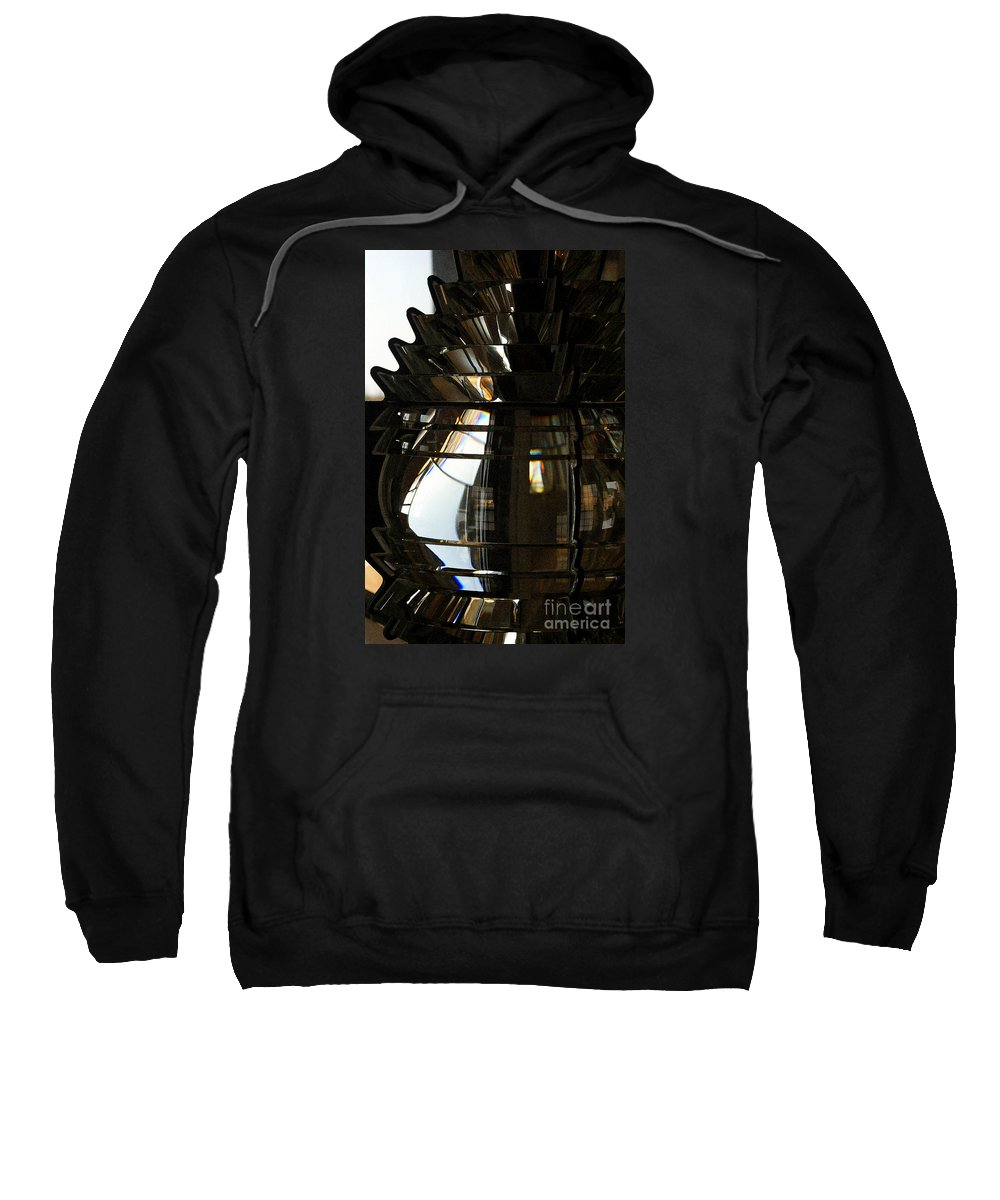 Lighthouse Sweatshirt featuring the photograph Within The Rings Of Lenses And Prisms - Water Color by Linda Shafer