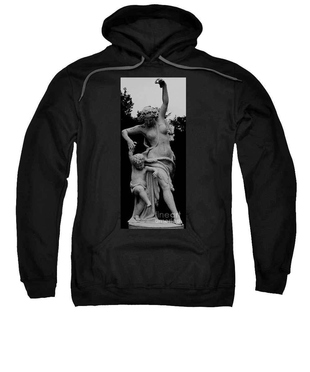 Figurative Sweatshirt featuring the painting Woman Statue by Eric Schiabor