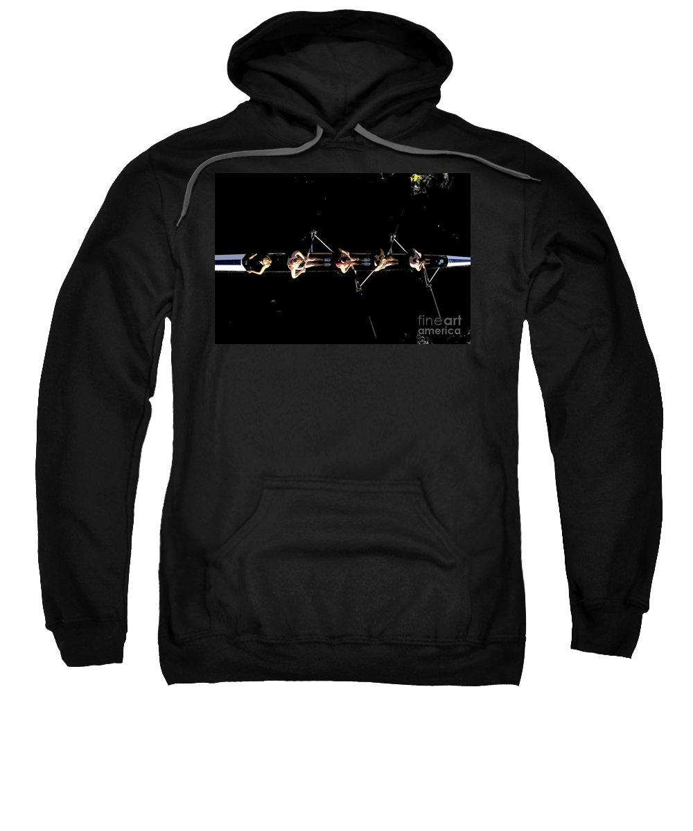 Sculling Sweatshirt featuring the painting Women Rowing by David Lee Thompson