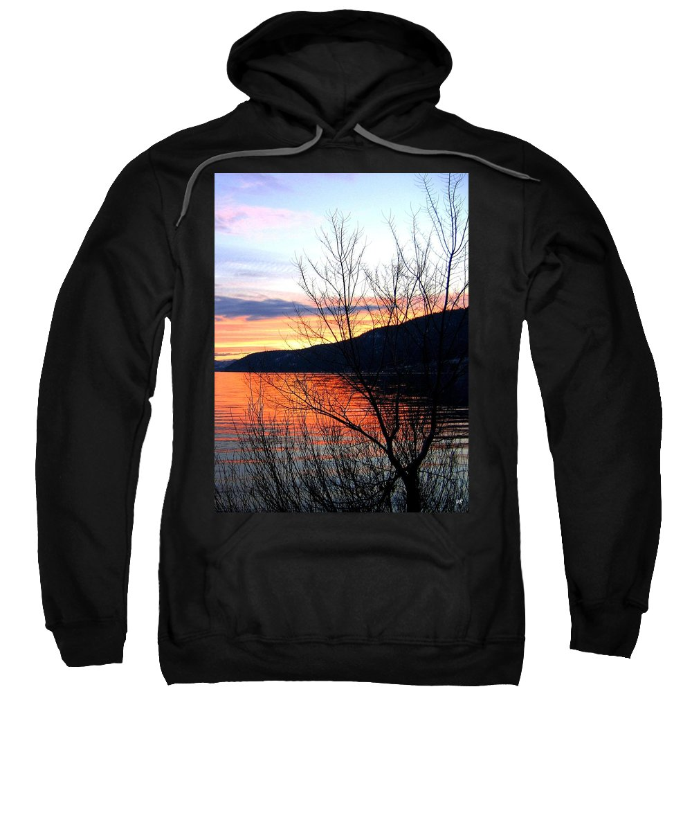 Sunset Sweatshirt featuring the photograph Wood Lake Sunset by Will Borden