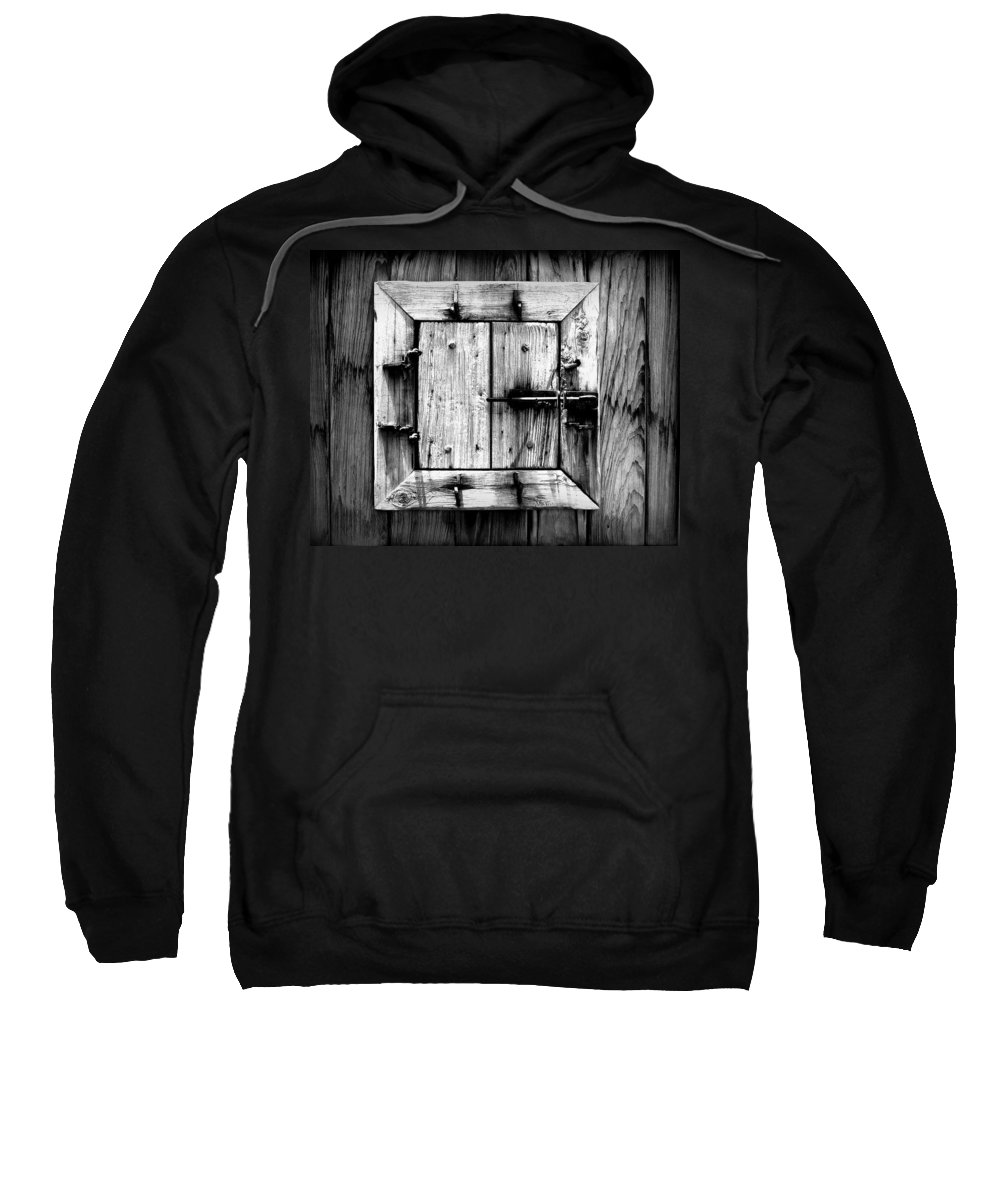 Wood Sweatshirt featuring the photograph Wooden Window II by Perry Webster