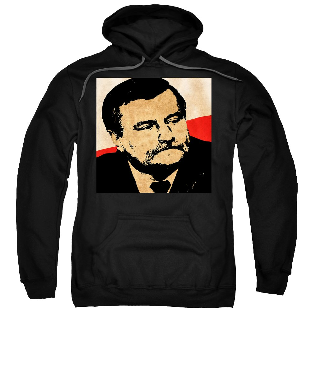 Lech Walesa Sweatshirt featuring the photograph World Leaders 12 by Andrew Fare