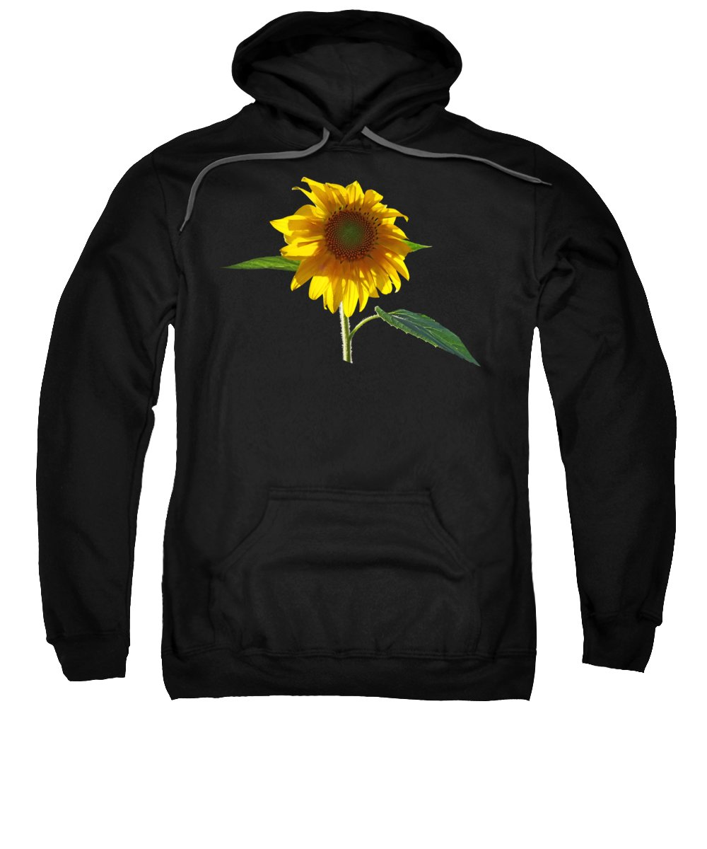 Sunflower Sweatshirt featuring the photograph Worshipping The Sun by Susan Savad