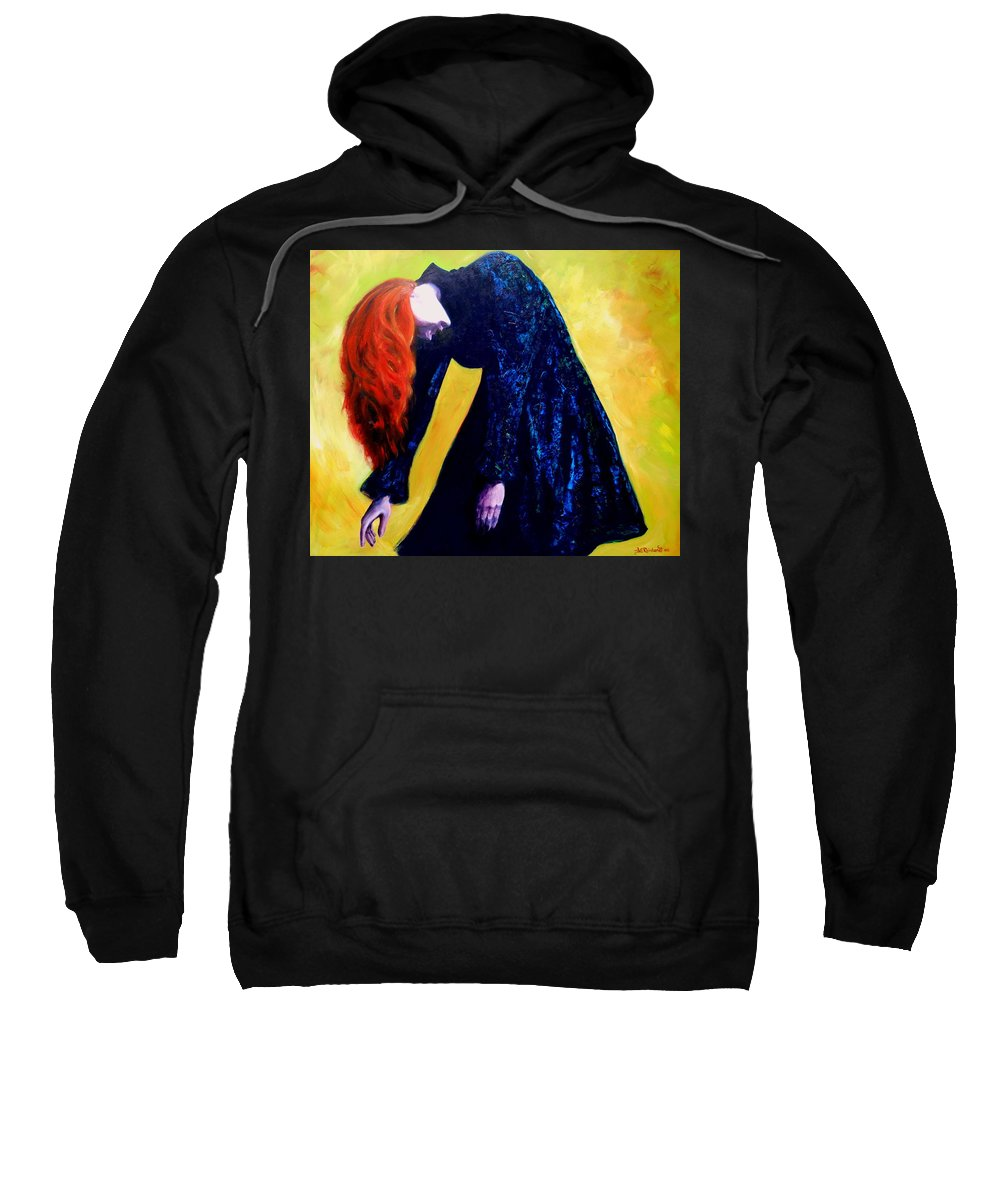 Acrylic Sweatshirt featuring the painting Wound Down by Jason Reinhardt