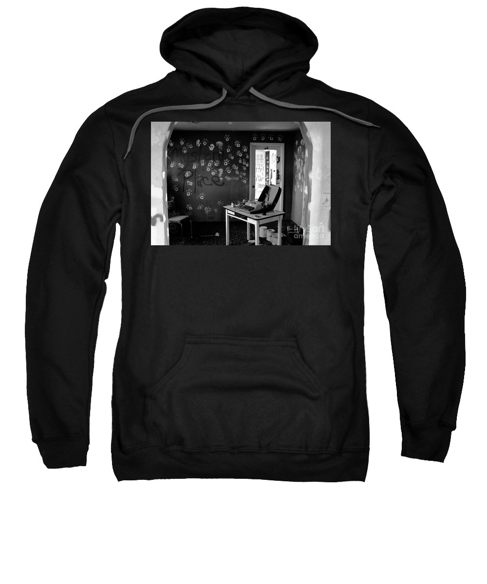 Writing Sweatshirt featuring the photograph Writers Station by David Lee Thompson