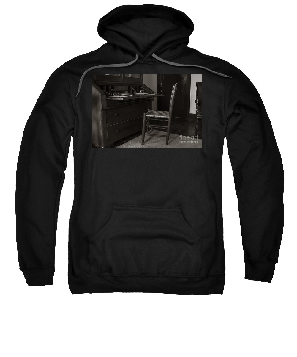 Writing Sweatshirt featuring the photograph Writing Desk by Wesley Farnsworth