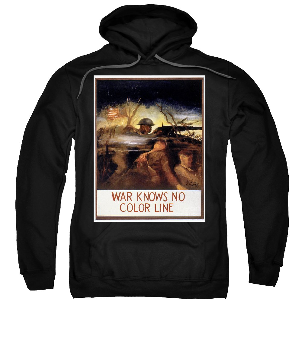 20th Century Sweatshirt featuring the photograph Wwii: Color Line Poster by Granger