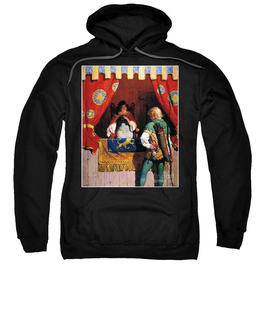 Sweatshirt featuring the painting Wyeth: Robin Hood & Marian by Granger