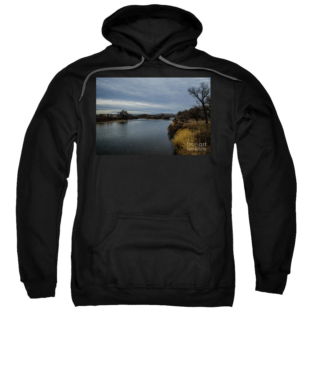 Landscape Sweatshirt featuring the photograph Wyoming Morning River by James Stewart