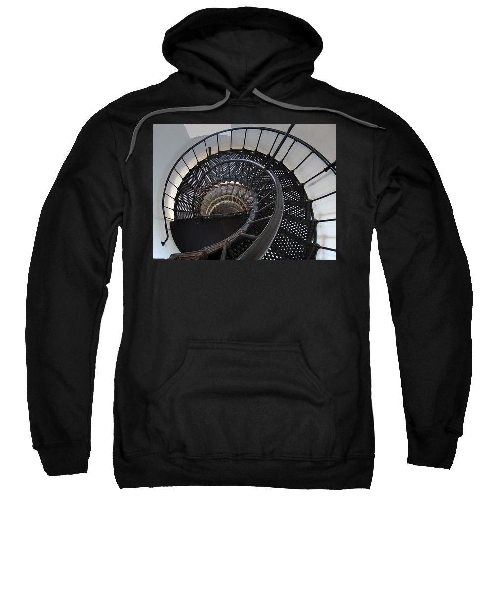 Nautilus Sweatshirt featuring the photograph Yaquina Lighthouse Stairway Nautilus - Oregon State Coast by Daniel Hagerman