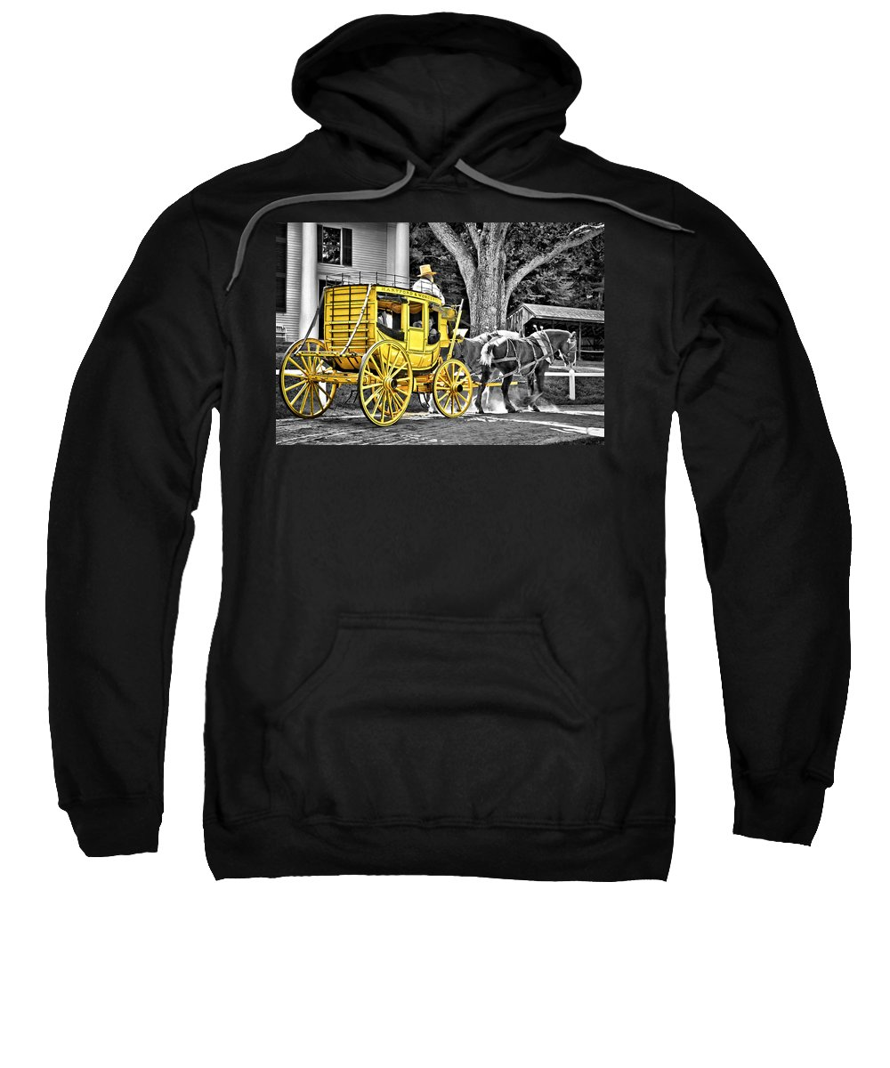 Old Sweatshirt featuring the photograph Yellow Carriage by Evelina Kremsdorf
