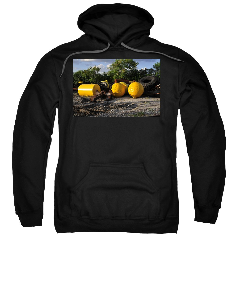 Yellow Sweatshirt featuring the photograph Yellow by David Lee Thompson