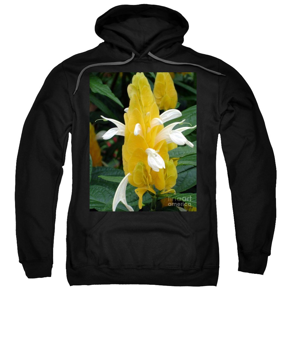 Flower Sweatshirt featuring the photograph Yellow Eruption by Shelley Jones