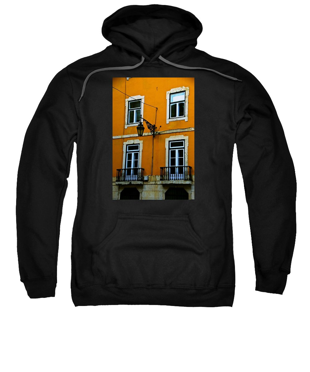 Yellow Sweatshirt featuring the photograph Yellow Italian Building by Eric Tressler