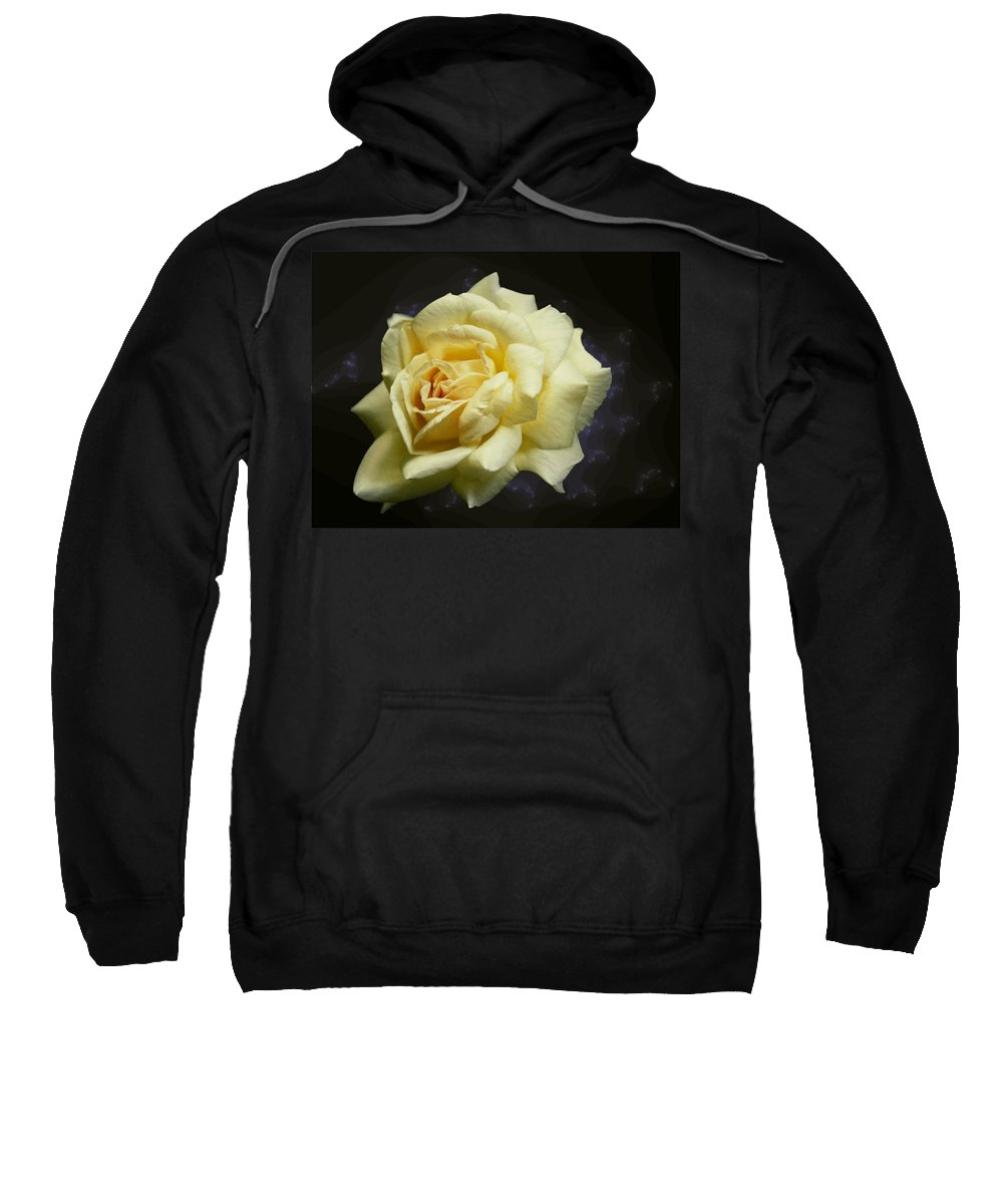 Yellow Rose Sweatshirt featuring the photograph Yellow Rose 2 by Tim Allen