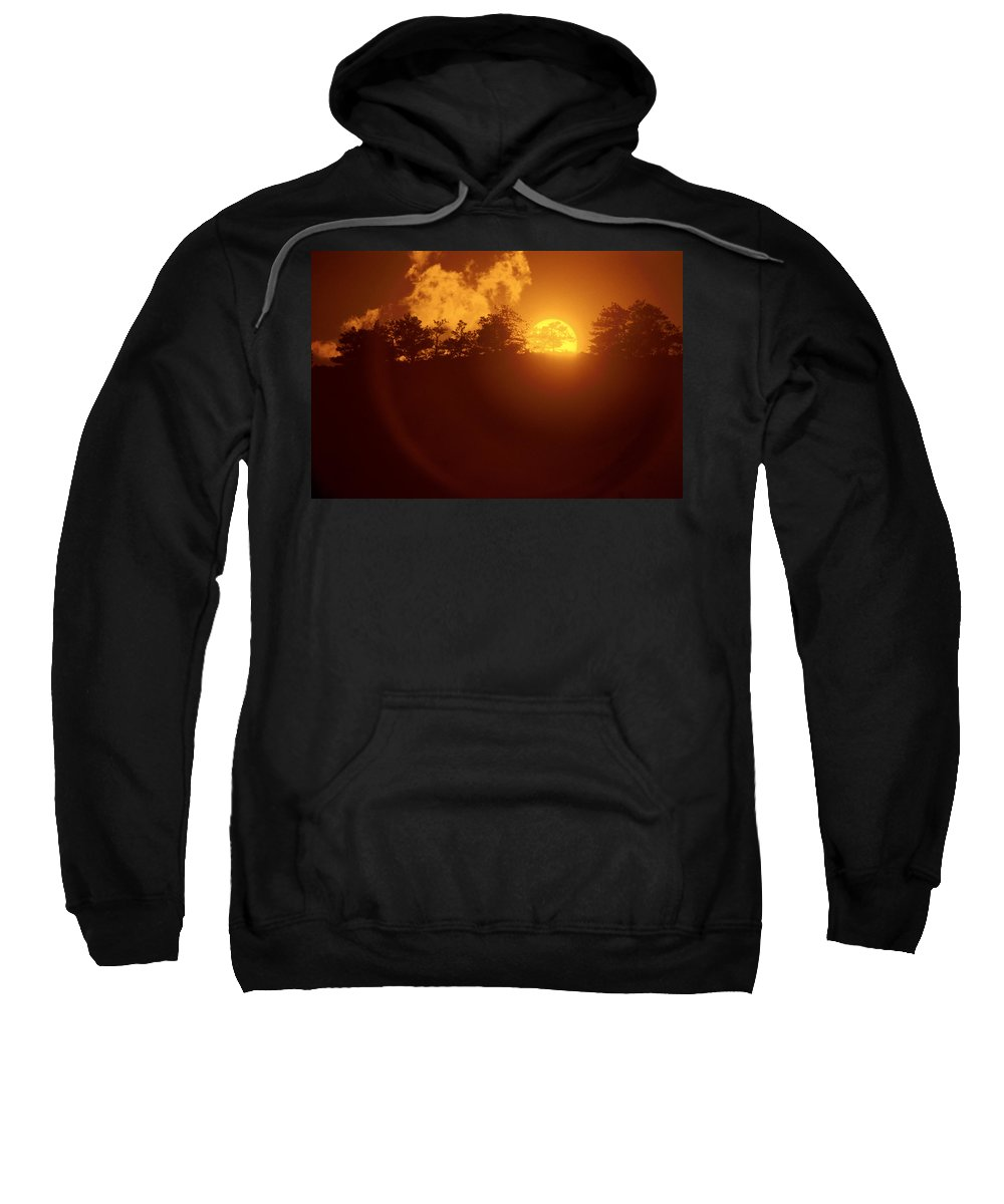 Sun Sweatshirt featuring the photograph Yellow Sun by Jerry McElroy